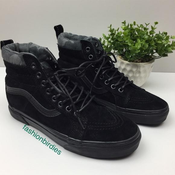278d006263 Vans Suede SK-8 Hi MTE Black Camo Skate High Top. M 5b13bb66619745d1f4647c7b